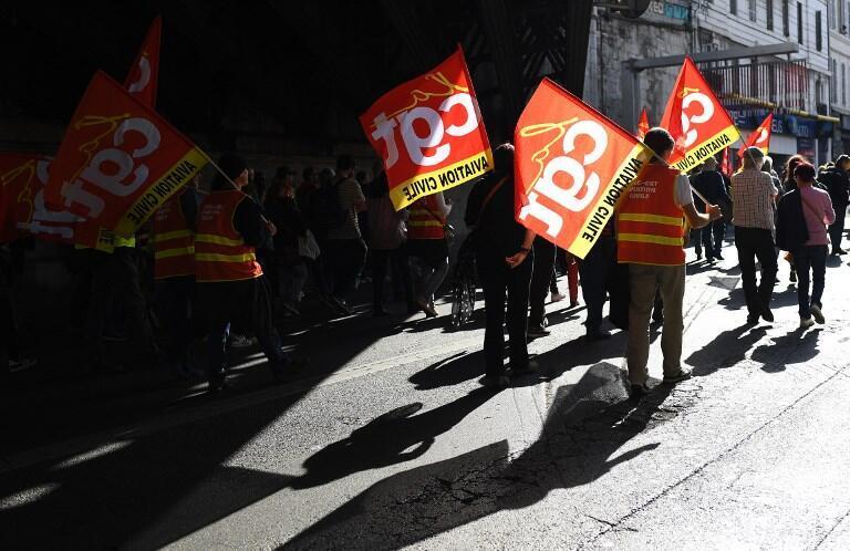 Protesto em Marselha. 19 de Outubro de 2017.