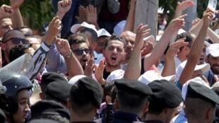 Les enseignants qui manifestaient ont fait face aux forces de l'ordre. Le 5 septembre 2019