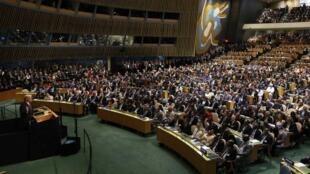 Discours du président américain Donald Trump lors de la 72e Assemblée générale des Nations unies, à New York, le 19 septembre 2017.