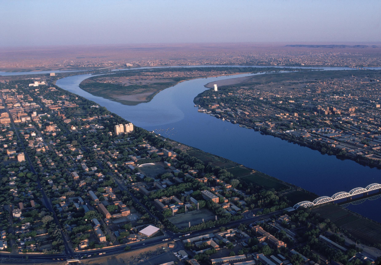 Vue aérienne de Khartoum, au Soudan.