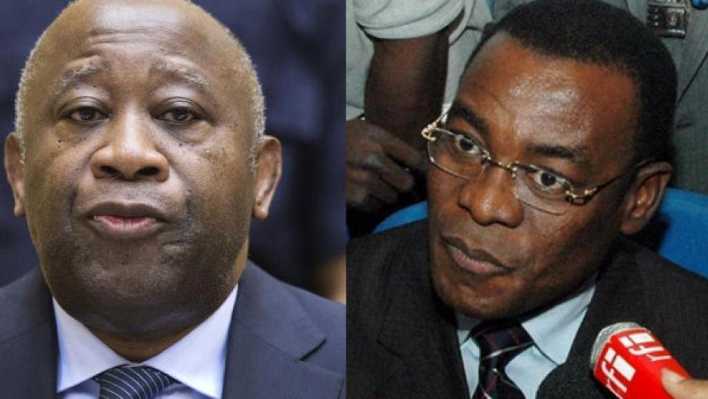Laurent Gbagbo, ex-président et fondateur du parti (a.g) Pascal Affi N'Guessan, président sortant du FPI (a.d)