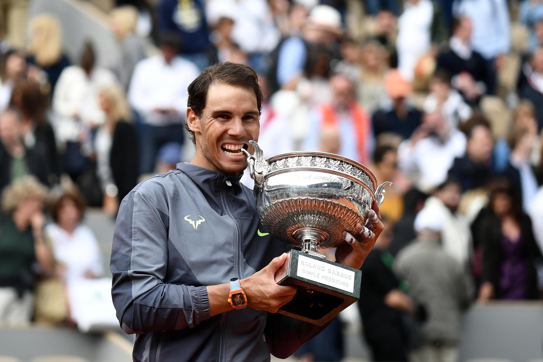 L'Espagnol Rafael Nadal vainqueur de Roland-Garros, le 9 juin 2019