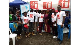 Notre partenaire MONUSCO BCNUDH en visite au stand du Club RFI GOMA.