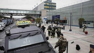 Troops at Orly airport after Saturday's attack