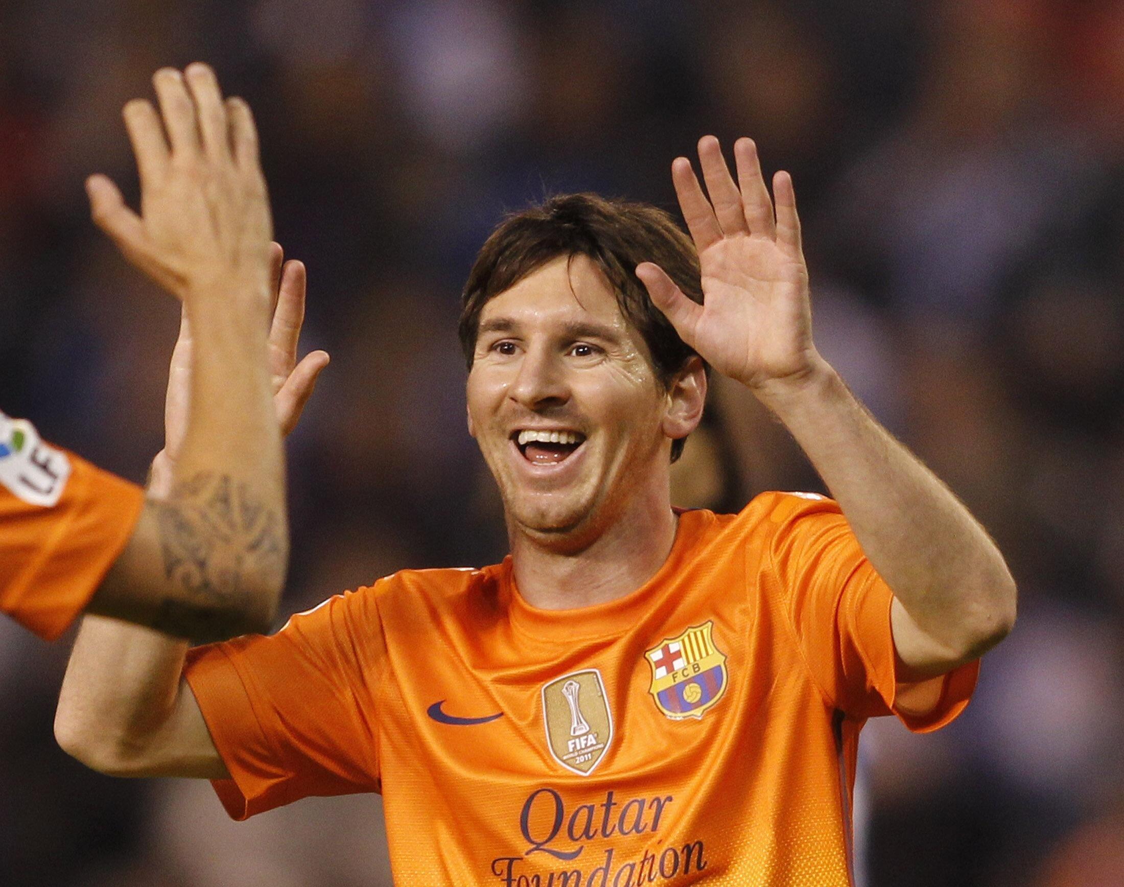 Mchaezaji wa Klabu ya Barcelona Lionel Messi