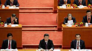 O presidente chinês, Xi Jinping, discursa durante evento que marca o 40º aniversário das reformas econômicas na China. 18/12/18.