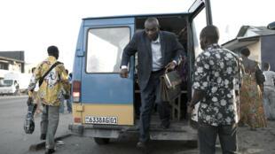 Scène de rue dans le quartier de Malonge à Kinshasa (non datée).