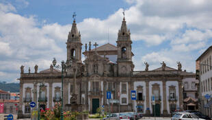 L'hopital église Sao Marcos à Braga au Portugal.
