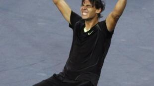 O tenista Rafael Nadal, ao vencer o US Open nesta segunda-feira.