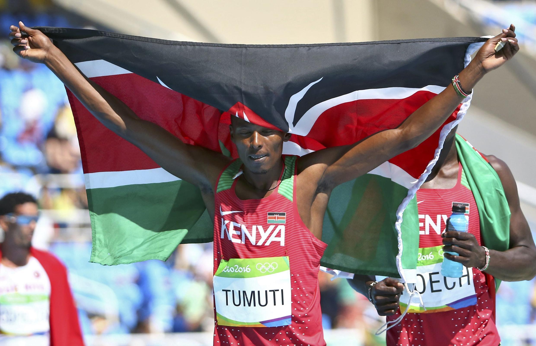 Boniface Mucheru bingwa wa Olimpiki mbio za Mita 400 kwa upande wa wanaume wakati Michezo ya Olimpiki nchini Brazil 2016