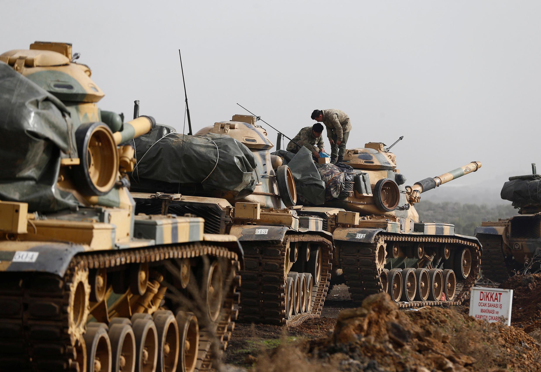 Des soldats turcs dans la province de Gaziantep, à la frontière turco-syrienne, ici en janvier 2018.  (Photo d'illustration).