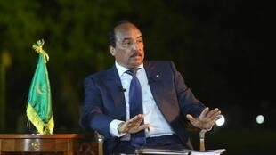 Mohamed Ould Abdel Aziz, President of Mauritania, during a press conference in March 2015 (Archives)