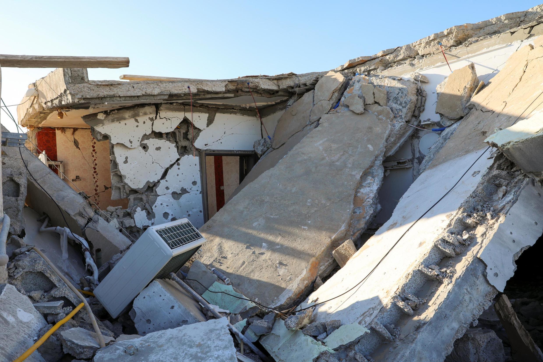 Le chaos libyen: maison bombardée dans un quartier sud de Tripoli, le 28 février 2020.