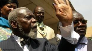 Ange-Félix Patassé, à Bangui, le 23 janvier 2011.