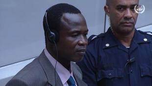 Dominic Ongwen, l'un des principaux chefs de la rébébellion ougandaise de la LRA, devant la Cour pénale intenationale (CPI), en décembre 2016.