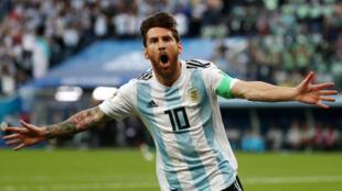 Lionel Messi (Argentine) durant le Mondial 2018, face au Nigeria.