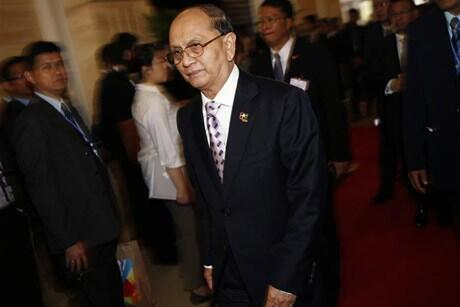 Le président de la Birmanie, Thein Sein.