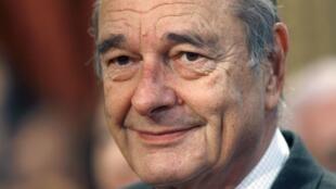 L'ancien président français, Jacques Chirac.