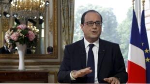 François Hollande concedeu nesta segunda-feira (14) sua tradicional entrevista do 14 de julho à televisão francesa.