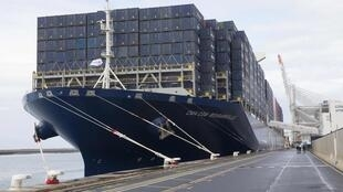 Le Bougainville, à quai au port du Havre, inauguré le 6 octobre 2015.