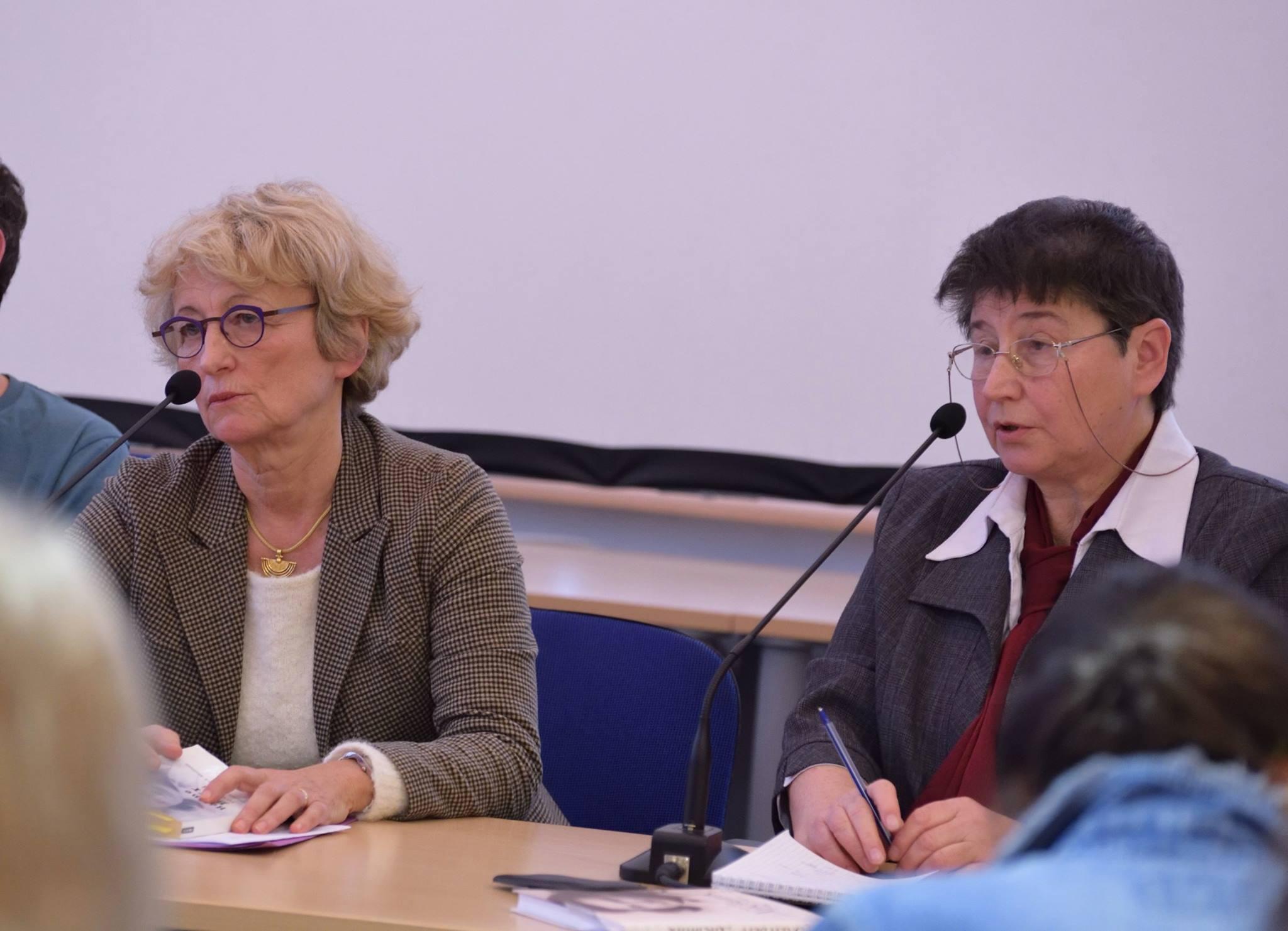 Мариэтта Жоб на презентации «Дневника» Элен Берр в Москве, декабрь 2016 года