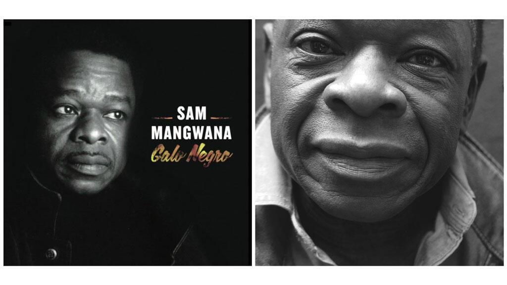 Pochette de l'album «Galo Negro» et Sam Mangwana à RFI (photo RFI/Laurence Aloir).