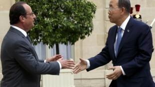 A Paris, Ban Ki-moon a évoqué mercredi 26 août avec le président Hollande les préparatifs du sommet sur le climat de décembre.