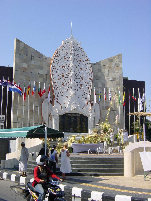 Monument commémoratif des attentats du 12 octobre 2002 à Bali.