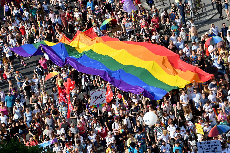 La marche des fiertés à Budapest
