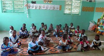 Des écoliers au Sénégal.