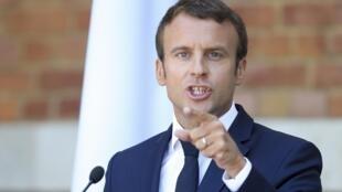Presidente Francês durante a conferência de imprensa esta manhã na Bulgaria.
