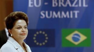 A presidenta Dilma Rousseff durante o 5ª Cúpula de Parceria Estratégica entre a Europa e o Brasil, em Bruxelas.