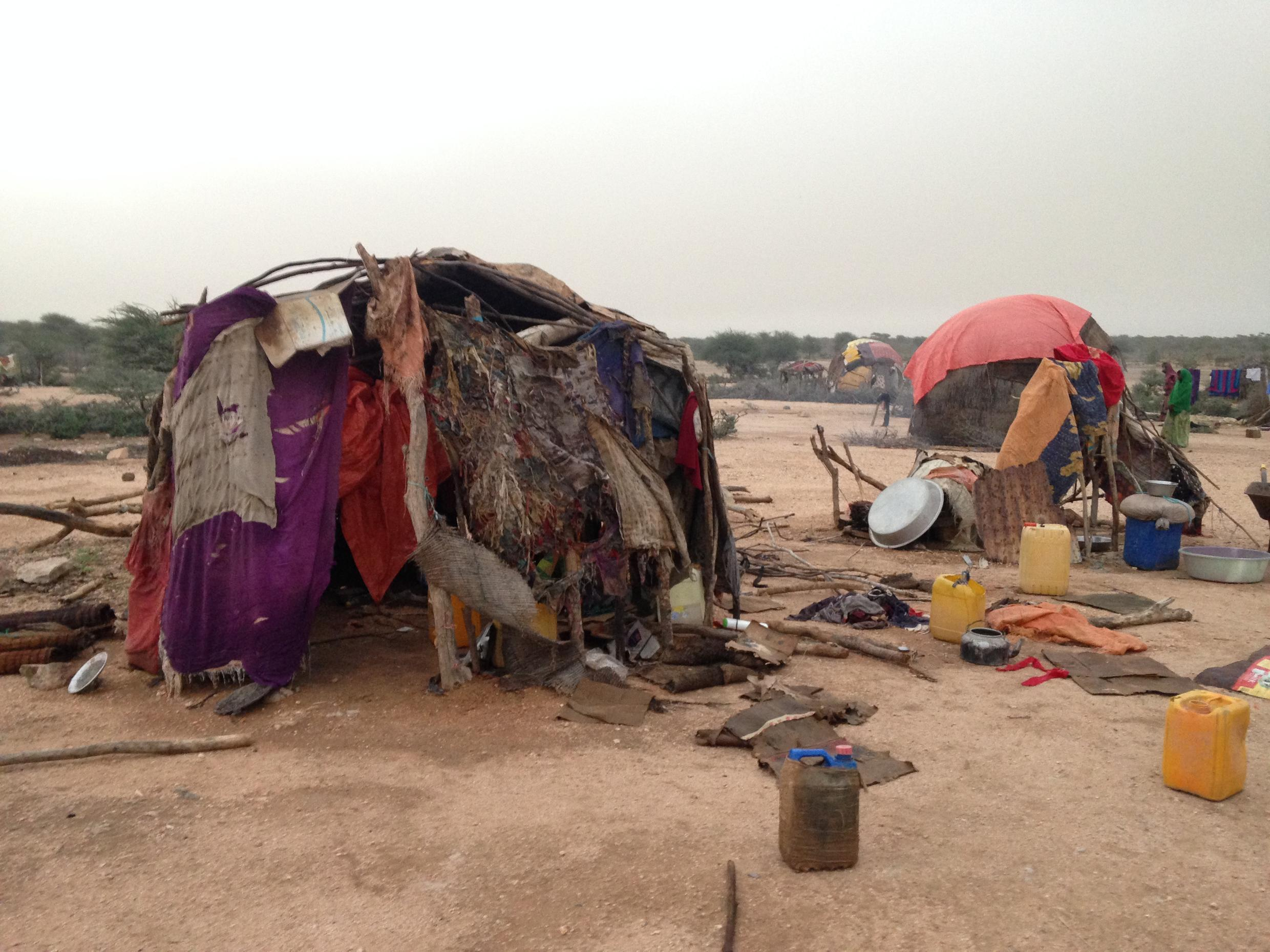 Huts of Internally Displaced People in Gargara, Somaliland