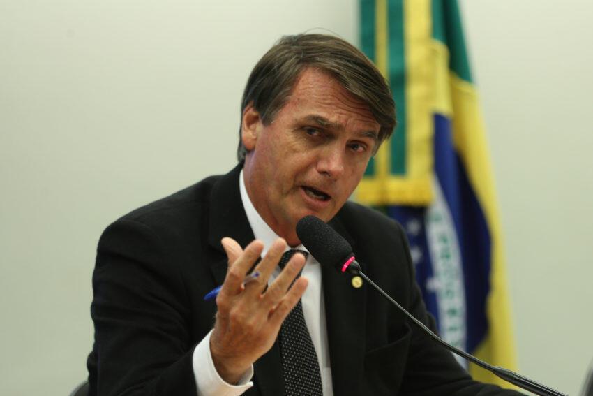O deputado Jair Bolsonaro, um dos principais líderes da extrema-direita no Brasil.