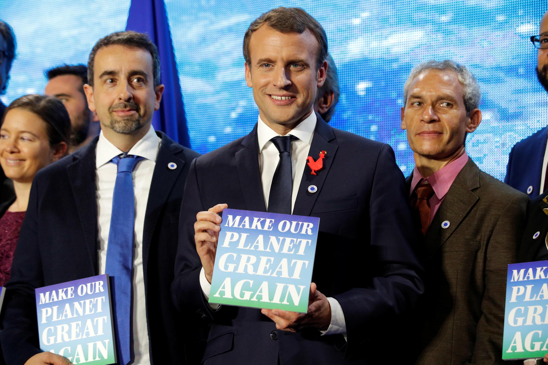 امانوئل ماکرون در نشست دوازدهم دسامبر پاریس دربارۀ تغییرات اقلیمی