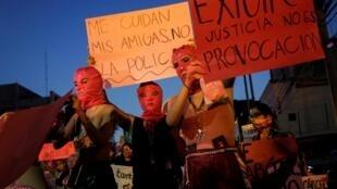 Manifestación 'No me protegen, me violan', en Monterrey, el 16 de agosto de 2019.