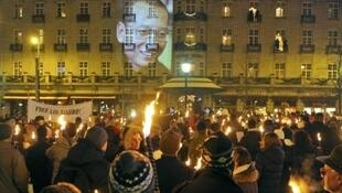 2010年诺贝尔和平奖典礼后的火炬游行活动