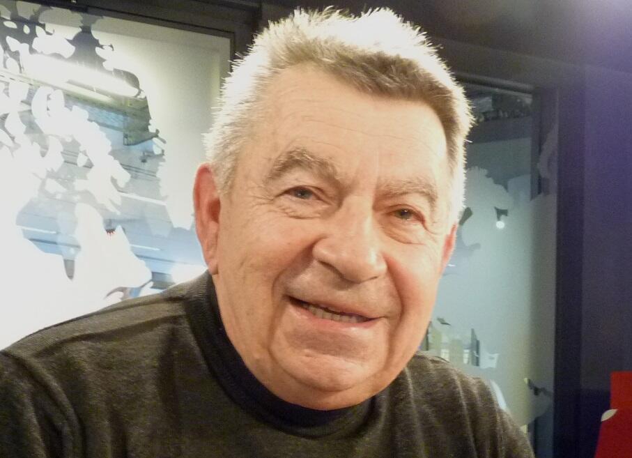 Bernard Lucquiaud en los estudios de RFI.