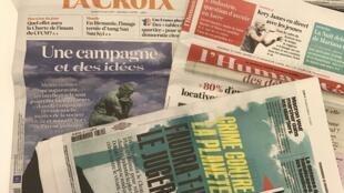 Capas dos diários franceses 31/03/2017