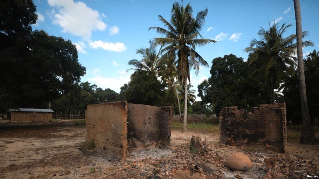 Kijiji kilichoshambuliwa cha Chitolo, Msumbiji.