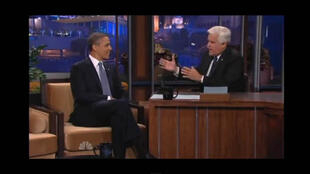 Obama en entrevista con Jay Leno en 'The Tonight Show', este 6 de agosto.