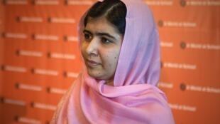 Malala Yousafzai cô gái Pakistan 16 tuổi biểu tượng đấu tranh chống cực đoan tôn giáo tại New York ngày 23/9/2013.