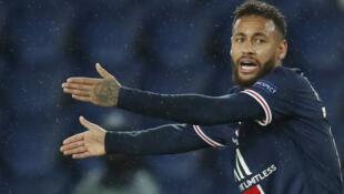Neymar lors de la rencontre face à Manchester United, le 20 octobre 2020.
