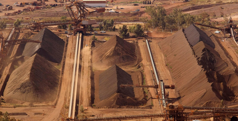 Une mine du groupe Rio Tinto, situé au nord de Perth en Australie.