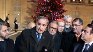 Les représentants des principales institutions religieuses françaises, le 5 janvier dernier à l'Elysée (image d'illustration).