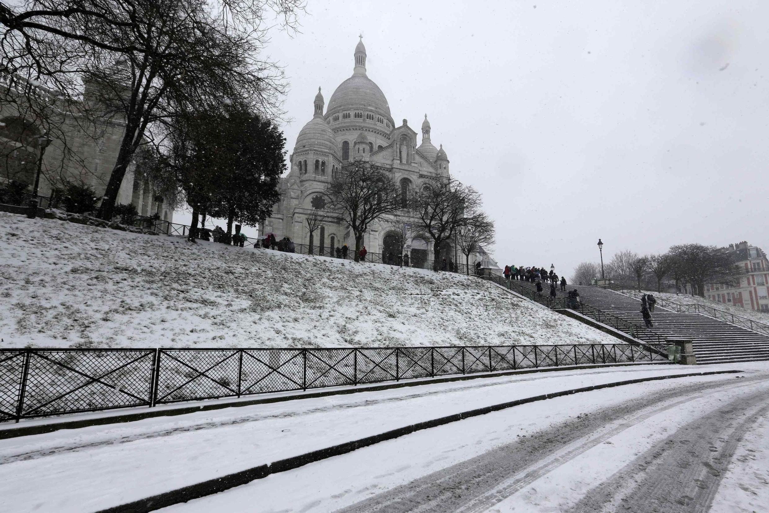 The Sacré Coeur in Paris is visited by more tourists than the Louvre