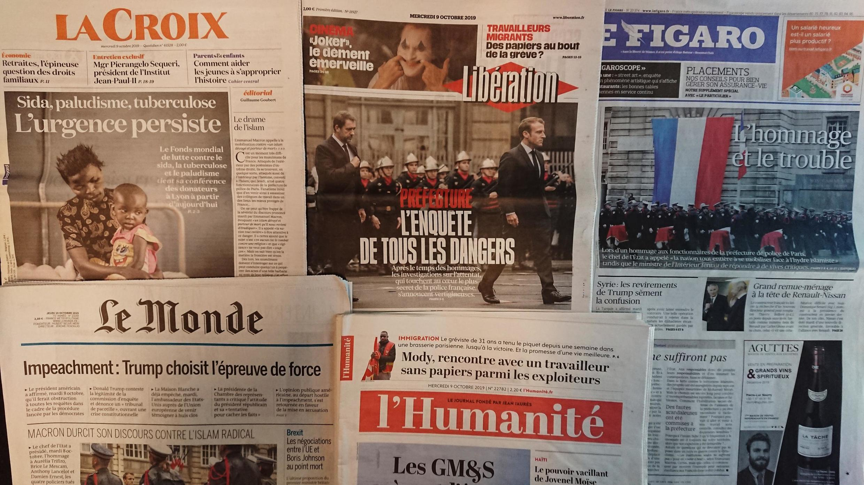 Diários franceses desta quarta-feira 09 de Outubro.