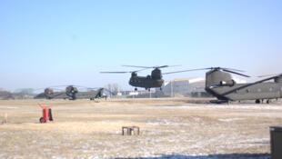 Trực thăng Chinook đang hoạt động tại căn cứ Humphreys - Hàn Quốc (Ảnh: wikipedia.org)