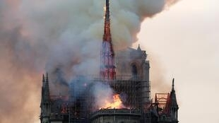 Notre-Dame Cathedral in Paris was engulfed by fire in April.