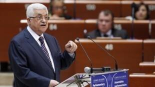 Mahmoud Abbas pede apoio à causa palestina diante do Conselho da Europa.